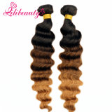 Ombreのマレーシアのバージンの毛の深い波自然なカラー自然な人間の毛髪