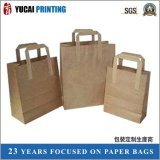 Flat Paper Handle Craft Paper Bag for Shopping