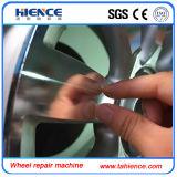 Diamante que corta la máquina móvil Awr32h del torno de la reparación de la rueda de la aleación