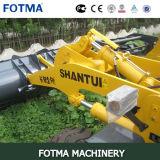 La paleta de Shantui SL60 bifurca carretilla elevadora rápida del cargador de la rueda del tirón de 6 toneladas