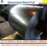 (0.125mm-0.8mm) Bobine en acier galvanisée plongée chaude de feuillards de Dx51d pour la construction