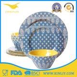 L'Afrique européenne bon marché Chine nous vaisselle réglée de vaisselle de plateau de cuvette de cuvette de plaque de dîner de Dishware d'assiette de nourriture à la maison moderne carrée ronde sûre en plastique de restaurant de mélamine