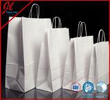 Todos los tipos bolsos de compras blancos del papel de Kraft de los precios de las bolsas de papel de Kraft