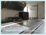 Cozinha de aço inoxidável elétrica com aquecimento de comida Hot Dog Cart Trailer