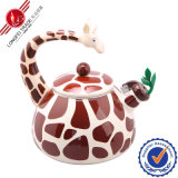 Decal animal Enamel Teapot con Bakelite Handle