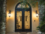 Супер двери входа ковки чугуна брови качества с транцем