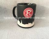 Taza de cerámica del logotipo del chorro de arena, Taza de cerámica del chorro de arena lleno