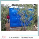Tanque de armazenamento quadrado retangular portátil resistente ao calor da água de FRP