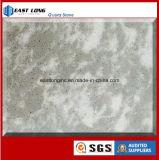 Luz - laje de mármore cinzenta da pedra de quartzo da cor