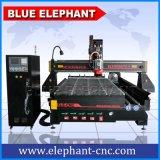 Ele 1530 3D 목제 절단기, 자동 공구 변경자 관제사를 가진 제 4 CNC 목제 기계장치