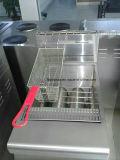 frigideira da microplaqueta do gás de 2-Tank 4-Basket com gabinete (HGF-70)