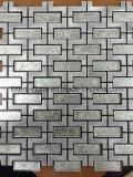 Rifornimenti di pietra naturali di marmo di vetro poco costosi delle mattonelle della stanza da bagno del pavimento di mosaico di sconto