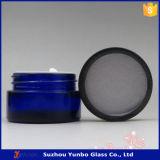 20 Ml Blue Cosmetic Glass Jars Cream Glass Jars