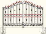De Duitse Zwarte Poeder Met een laag bedekte Poort Van uitstekende kwaliteit van de Omheining van het Staal