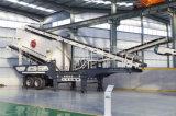Station de concassage mobile pour déchets de construction