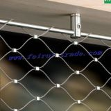 Ss 304 / 316L Wire Rope Woven Mesh para Zoo Animals Cage