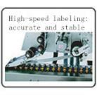 De horizontale Kleine Ronde Machine van de Etikettering van het Etiket van de Sticker van Flessen Zelfklevende