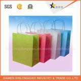 Bolsos de papel modificados para requisitos particulares fábrica del regalo, bolso de compras, bolso del envío