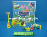 Maiale di plastica molle del giocattolo divertente con musica ed indicatore luminoso (926252)