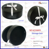 모자 PU Leather Round Storage Box (5506R6)