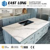 台所デザインまたは壁パネルまたは虚栄心の上のための高級なAartificial Calacattaの水晶石のカウンタートップ