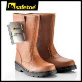 Stahlzehe-Leder-Sicherheits-Arbeits-Schuh-Matten (H-9430)