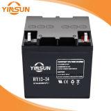 L'usine vendent directement la batterie d'acide de plomb solaire noire de 12V 24ah