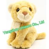 Brinquedo do luxuoso do leão do animal enchido do algodão de EN71 PP