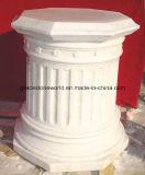Bella base intagliata mano di marmo bianca naturale