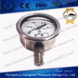 Medidor de pressão de óleo de aço inoxidável de 60 mm 2,5 '' cheio com glicerina