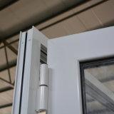 De witte Deur Kz173 van de Gordijnstof van de Bladeren van het Aluminium van de Kleur Poeder Met een laag bedekte Ongelijke Dubbele