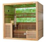 Qualitäts-kanadische Zeder hölzerne Harvia Heizungs-Spitzenentwurfs-Sauna-Haus M-6055