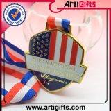 Подгонянное покрынное античное медаль спорта золота