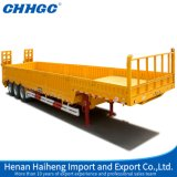 3axle 40FT 40tons Flatbed Cargo Side Wall Truck Semi Trailer