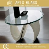 6mm 8mm 10mm 12mm Diamètre 560mm 916mm Round / Circle Coffee Hotel Mobilier Tempered / Toughened Tabletop Glass