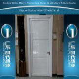 Puerta de aluminio del cuarto de baño con 1/3 o el panel de aluminio medio o terminado
