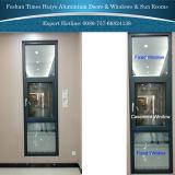 Örtlich festgelegtes Aluminiumfenster mit doppeltem Hartglas