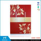 Mingxiuの高品質の金属3のドアの寝室のワードローブDesigns/3のドアの衣類の鋼鉄ワードローブ