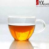 taza de café de cristal del Alto-Borosilicate 130ml con la maneta de cristal/la taza de café de cristal/la taza de té de cristal/la taza de cristal del té para el mercado de Italia
