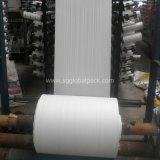 Fabrication en Chine Tissus tissés tubulaires en polypropylène blanc à prix bon marché