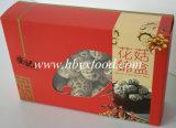 Fungo di Shiitake secco ecologico del fiore del tè con il contenitore di regalo