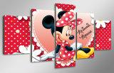 HD imprimió la pintura del ratón de Minnie de la historieta en la lona Mc-109 del cuadro del cartel de la impresión de la decoración del sitio de la lona