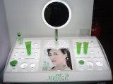 Stand de support de crème d'affichage de Skincare de stand de beauté réglé par produits de beauté avec le miroir