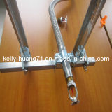 Gewölbter flexibles Metalschlauch des Edelstahl-Ss304 316 mit Befestigungen