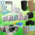 Plastikrahmen V-Typ Filter gefalteter Luftfilter