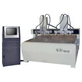 Due teste 8 assi di rotazione, sistema dello studio di Nc, vite di PMI, router di pietra di CNC di falegnameria (DT2018-2-8)