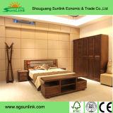 Conjunto sólido de los muebles del dormitorio de la base gemela de madera de pino