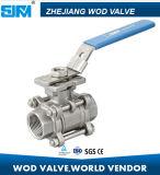 Valvola a sfera dell'acciaio inossidabile 3PC con ISO5211 Pn16/40