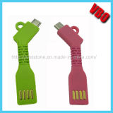 Datos flexibles del USB de Keychain y cable de carga para el iPhone, Samsung Glalaxy (CS-068)