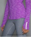 Camiseta de secado rápido superior de los deportes de las mujeres